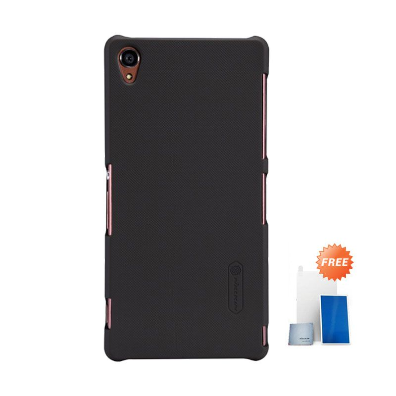 Nillkin Super Frosted Shield Brown Casing for Sony Xperia Z3 + Screen Protector