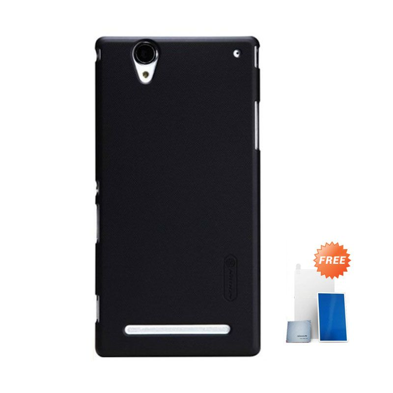 Nillkin Super Frosted Shield Black Casing for Sony Xperia T2 Ultra + Screen Protector