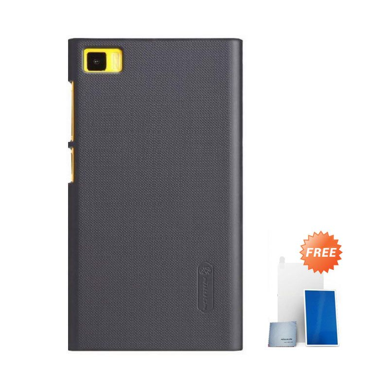 Nillkin Super Frosted Shield Black Casing for Xiaomi Mi3 + Screen Protector