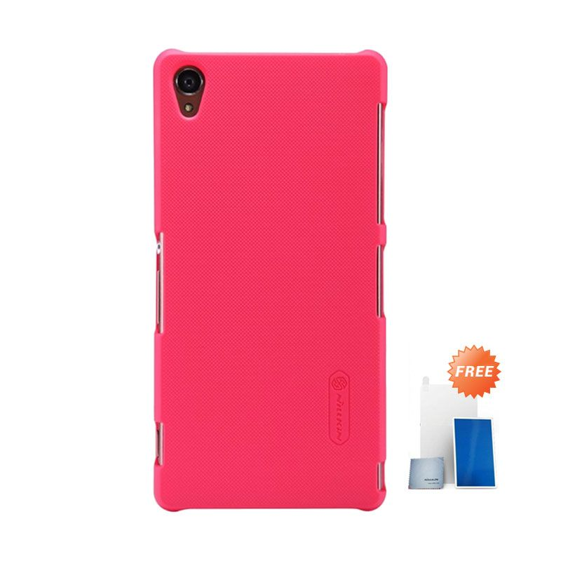Nillkin Super Frosted Shield Red Casing for Sony Xperia Z3 + Screen Protector