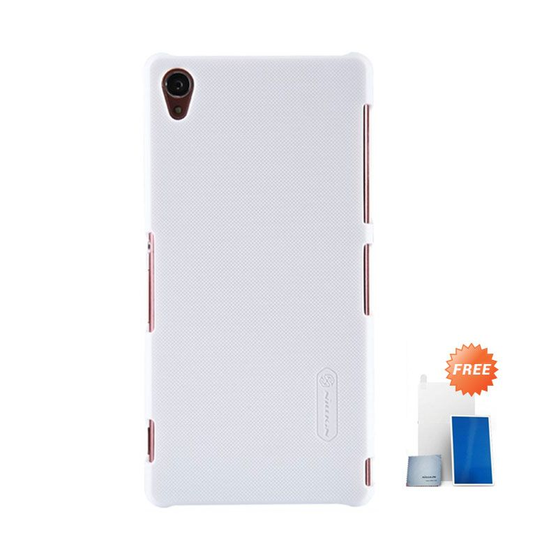 Nillkin Super Frosted Shield White Casing for Sony Xperia Z3 + Screen Protector