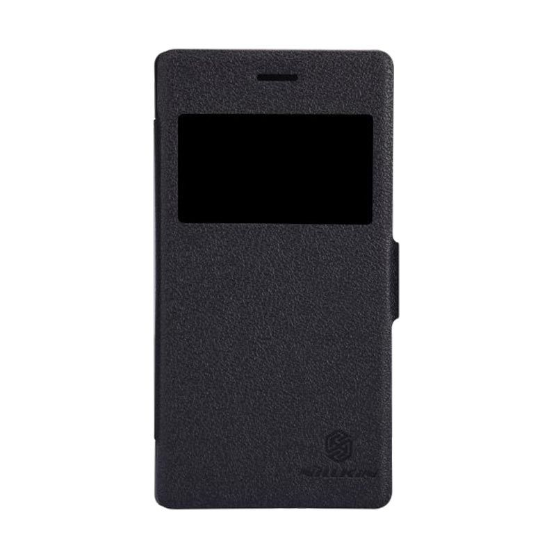 Nillkin Fresh Leather Black Casing for Sony Xperia M2 S50h