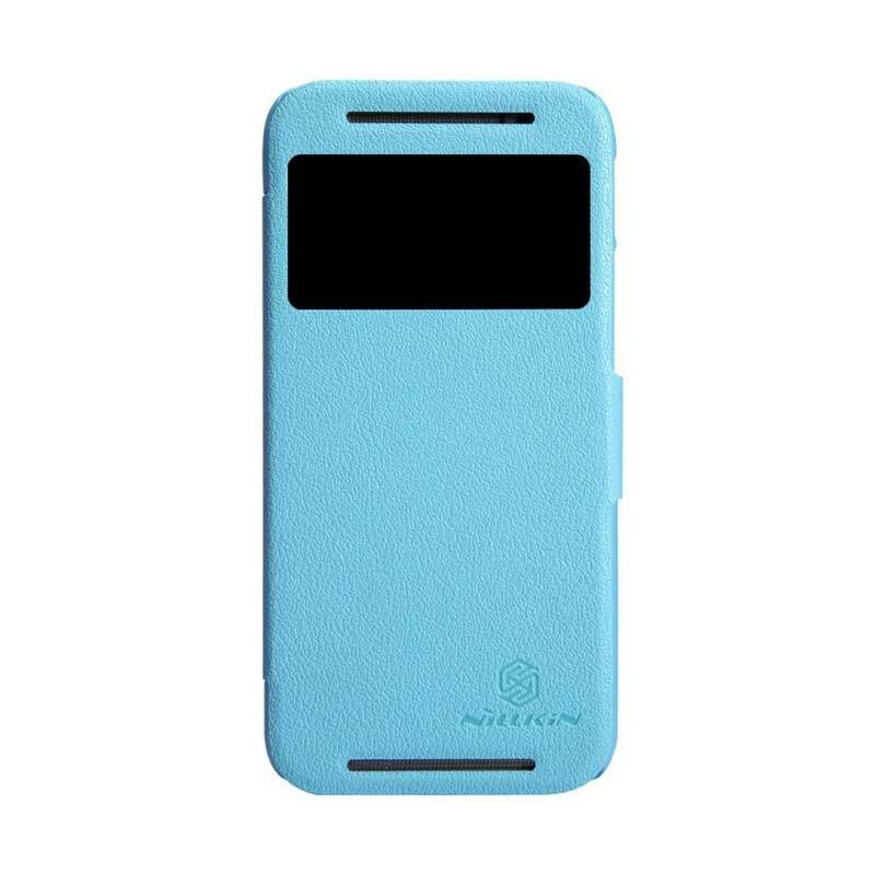 Nillkin Fresh Leather Blue Casing for HTC One M8