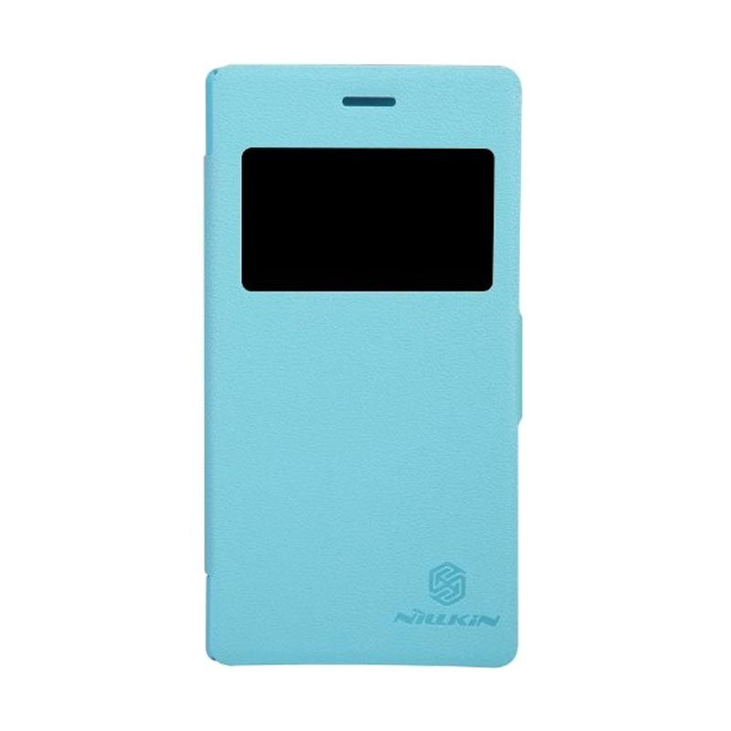 Nillkin Fresh Leather Blue Casing for Sony Xperia M2 S50h