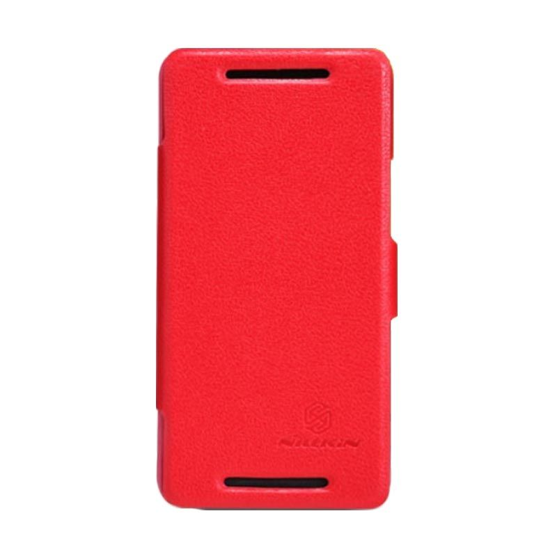 Nillkin Fresh Leather Red Casing for HTC One M7