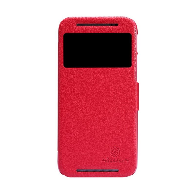 Nillkin Fresh Leather Red Casing for HTC One M8