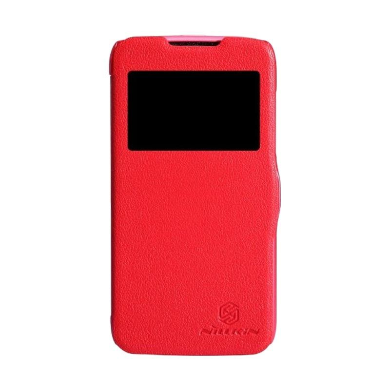 Nillkin Fresh Leather Red Casing for Lenovo A516