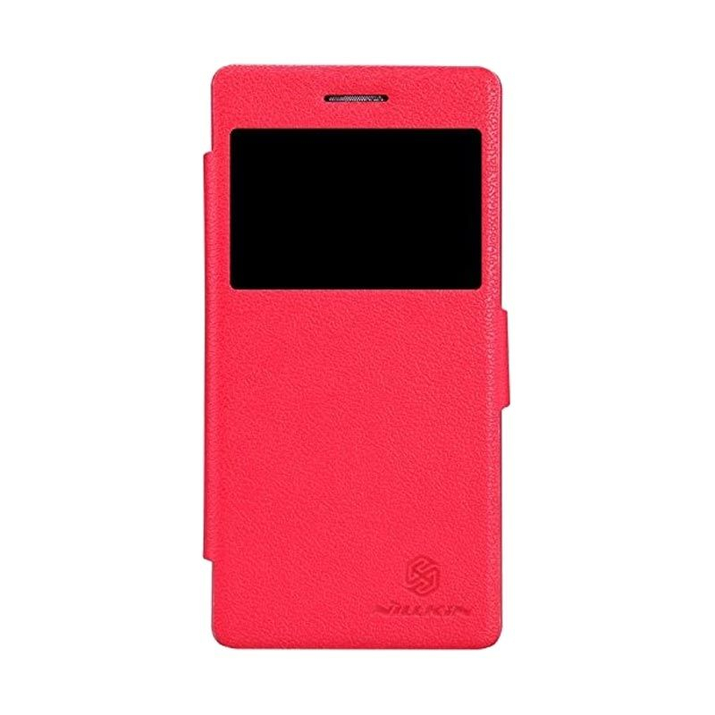 Nillkin Fresh Leather Red Casing for Lenovo Vibe X2
