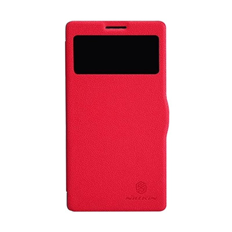 Nillkin Fresh Leather Red Casing for Lenovo Vibe Z K910