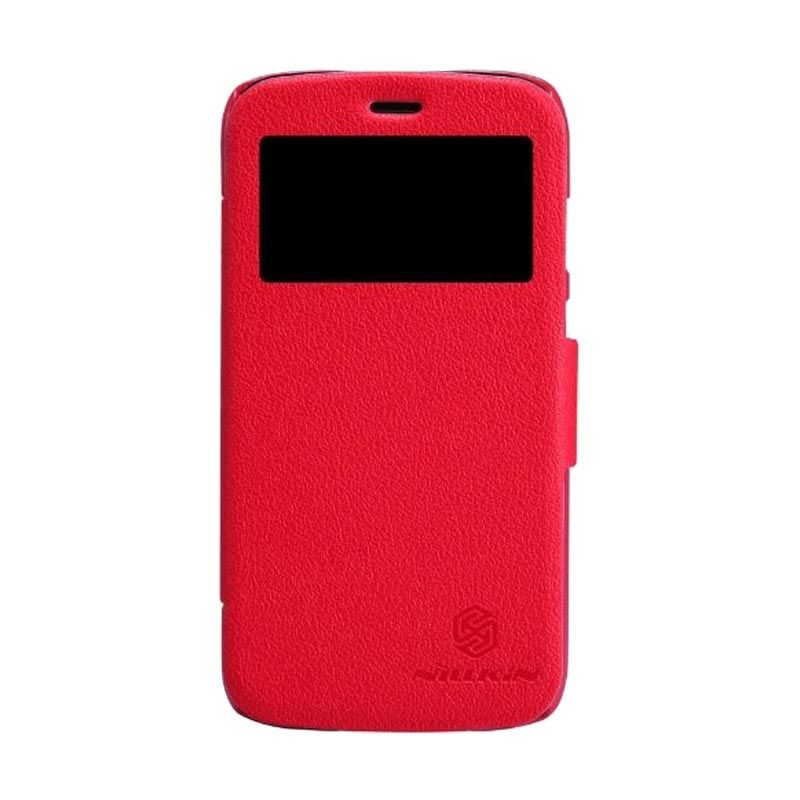 Nillkin Fresh Leather Red Casing for Moto G