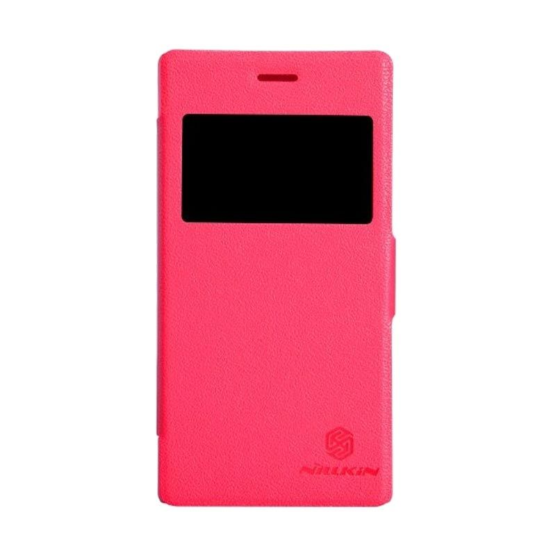Nillkin Fresh Leather Red Casing for Sony Xperia M2 S50h