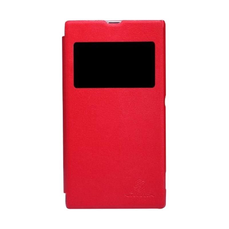 Nillkin Fresh Leather Red Casing for Sony Xperia Z1 L39h