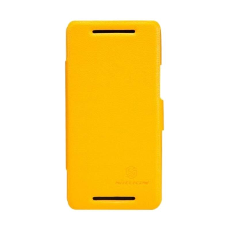 Nillkin Fresh Leather Yellow Casing for HTC One M7
