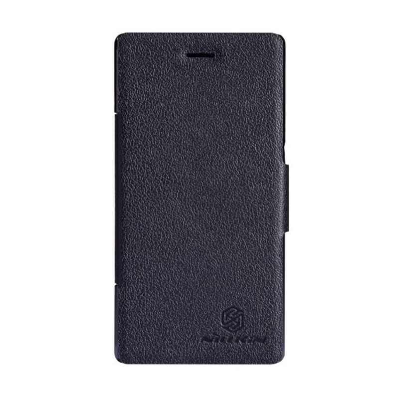 NILLKIN Fresh Series Leather Case Black Casing for Sony Xperia M