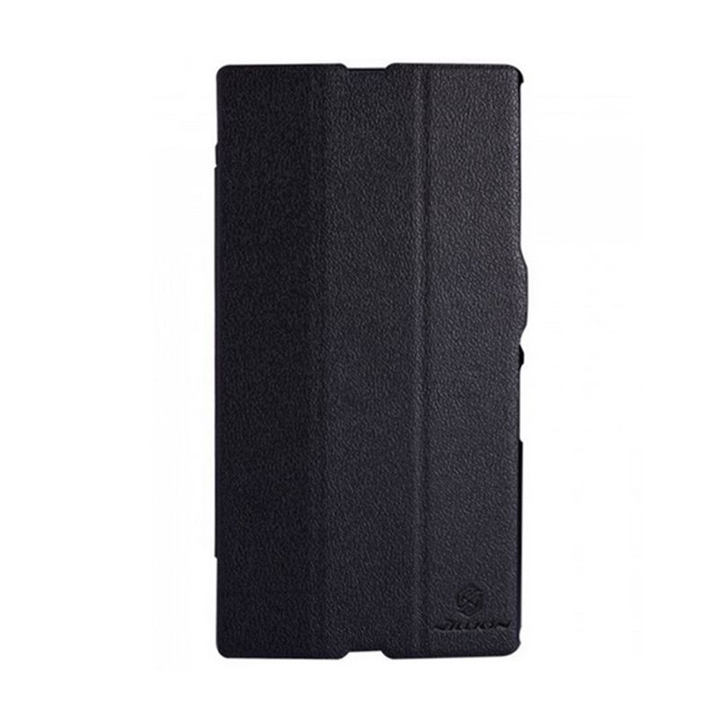 NILLKIN Fresh Series Leather Case Black Casing for Sony Xperia Z Ultra XL39h