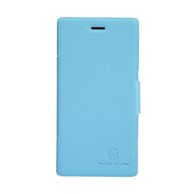 NILLKIN Fresh Series Leather Case Blue Casing for Sony Xperia M