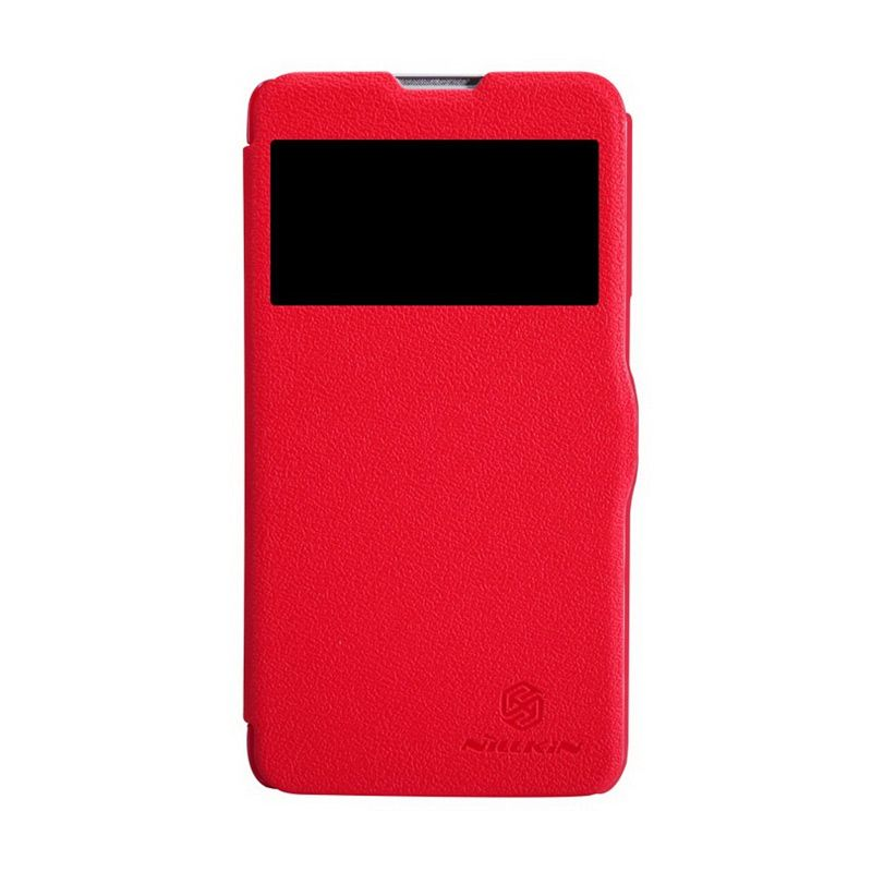 NILLKIN Fresh Series Leather Case Red Casing for LG G Pro Lite D684/D686