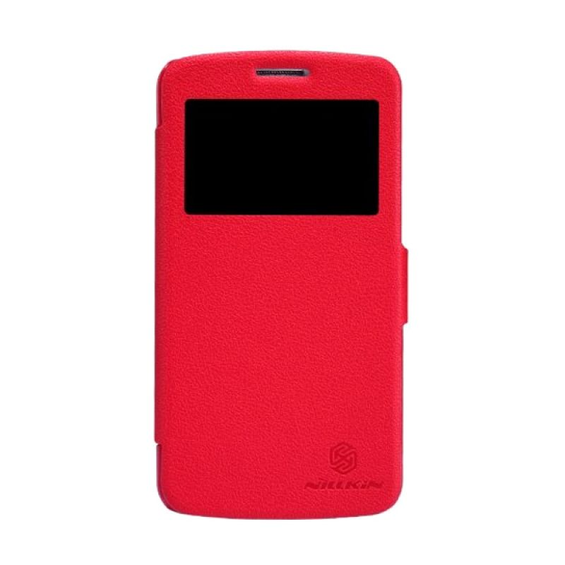 NILLKIN Fresh Series Leather Case Red Casing for Samsung Galaxy Grand 2 G7102/G7106