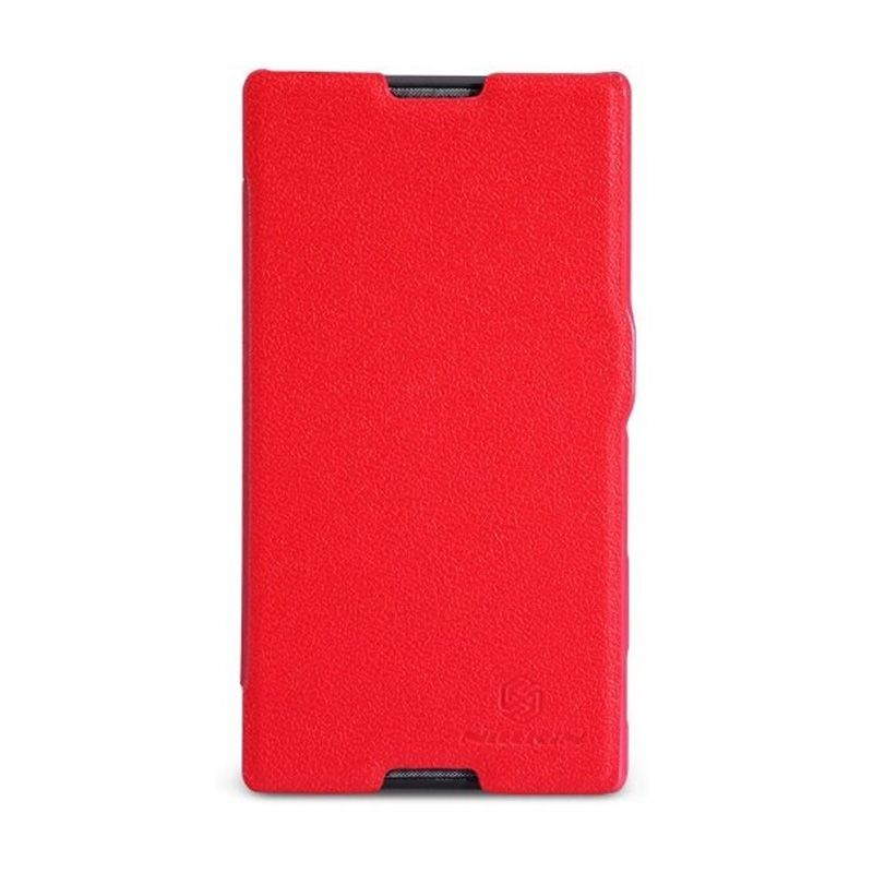 NILLKIN Fresh Series Leather Case Red Casing for Sony Xperia C S39h