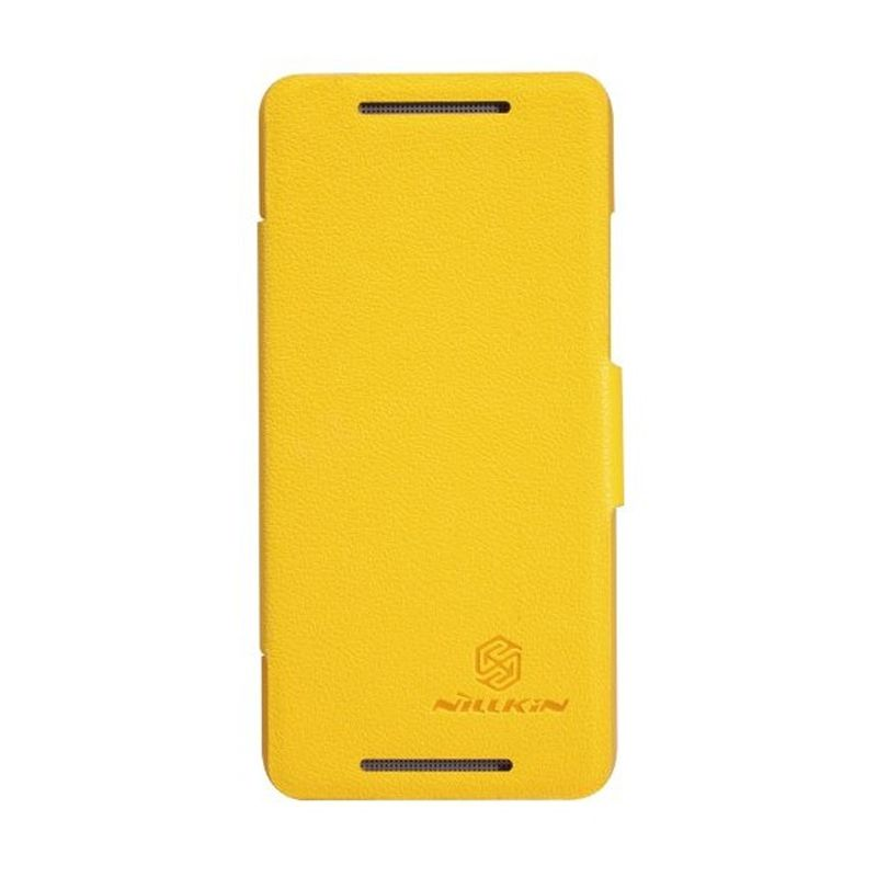 NILLKIN Fresh Series Leather Case Yellow Casing for HTC One Mini M4/601E