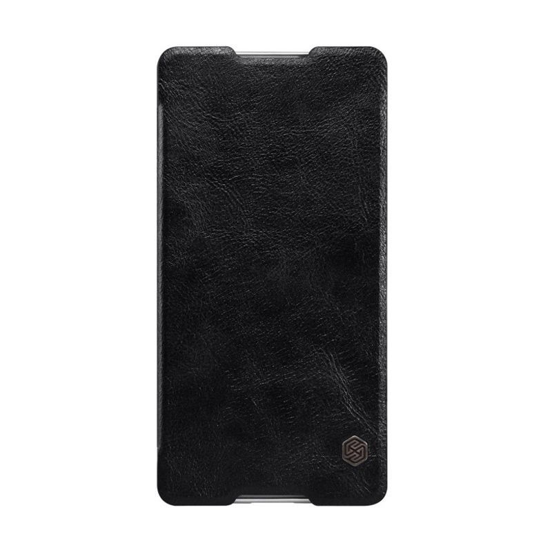 harga NILLKIN QIN Leather Case Black Casing for Sony Xperia C5 Ultra Blibli.com