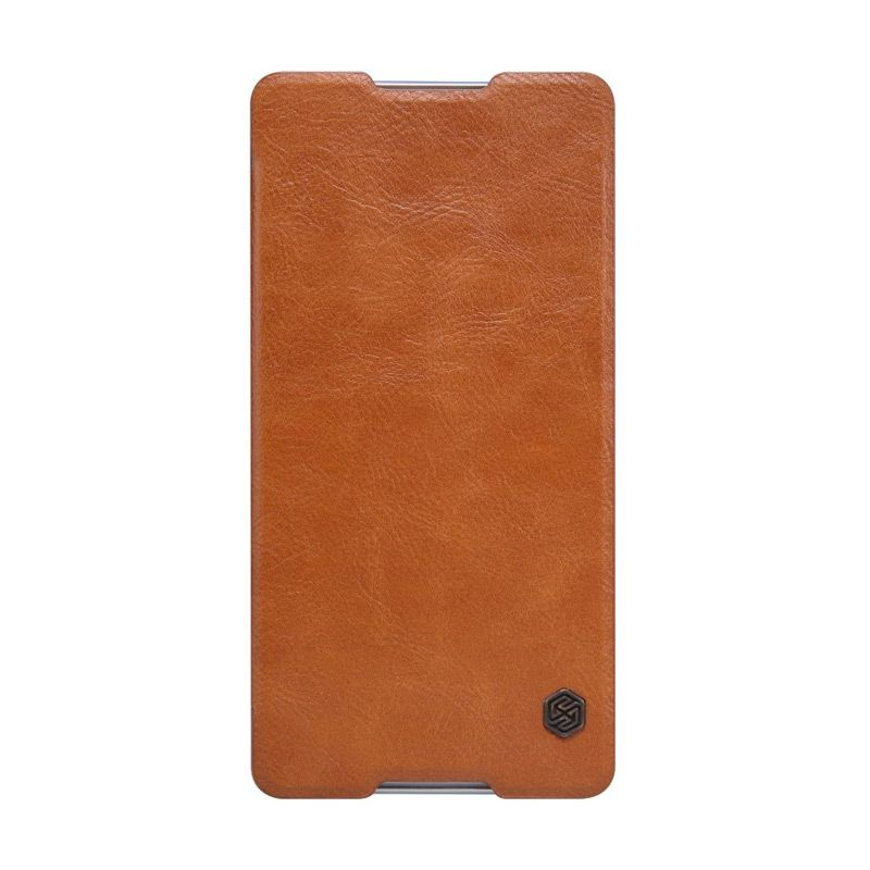 harga NILLKIN QIN Leather Case Brown Casing for Sony Xperia C5 Ultra Blibli.com