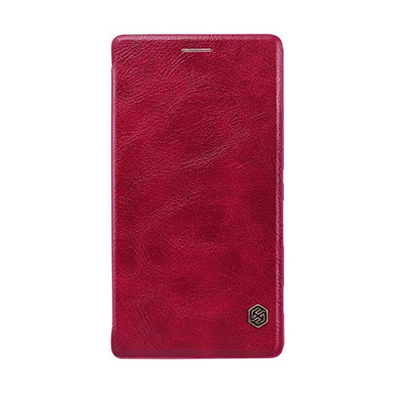 NILLKIN QIN Leather Case Red Casing for Sony Xperia C4