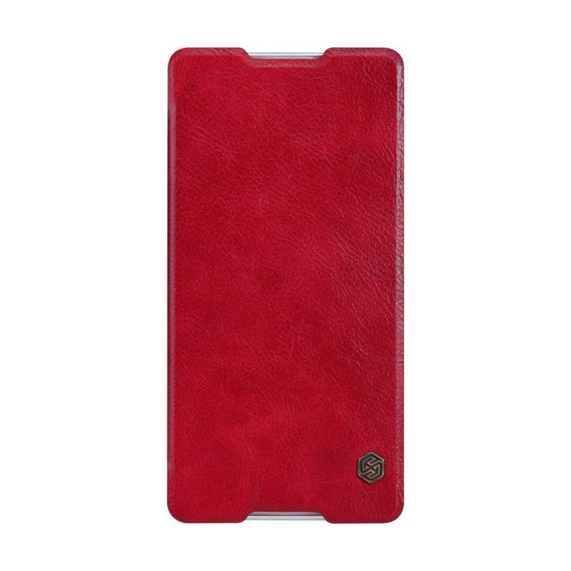NILLKIN QIN Leather Case Red Casing for Sony Xperia C5 Ultra