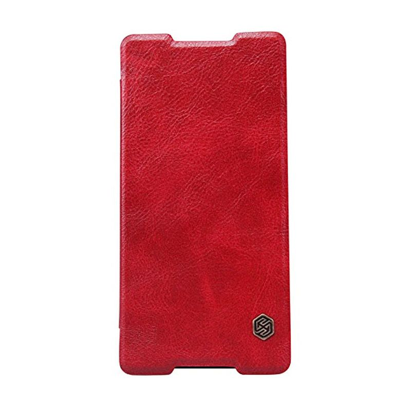NILLKIN QIN Leather Case Red Casing for Sony Xperia Z4
