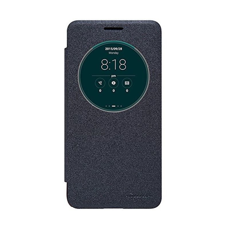 Nillkin Sparkle Leather Black Casing for Asus Zenfone Go ZC500TG