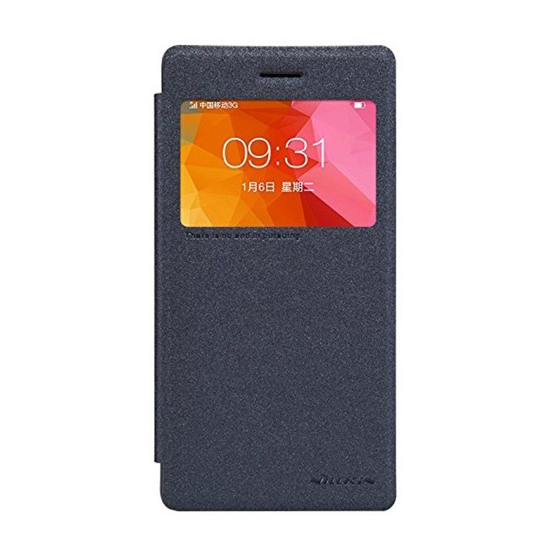 Nillkin Sparkle Leather Black Casing for Oppo R5 R8107