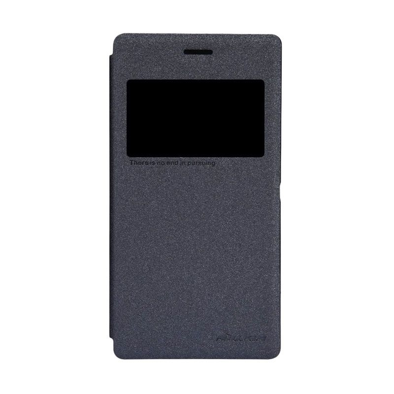 Nillkin Sparkle Leather Black Casing for Sony Xperia M2 S50h