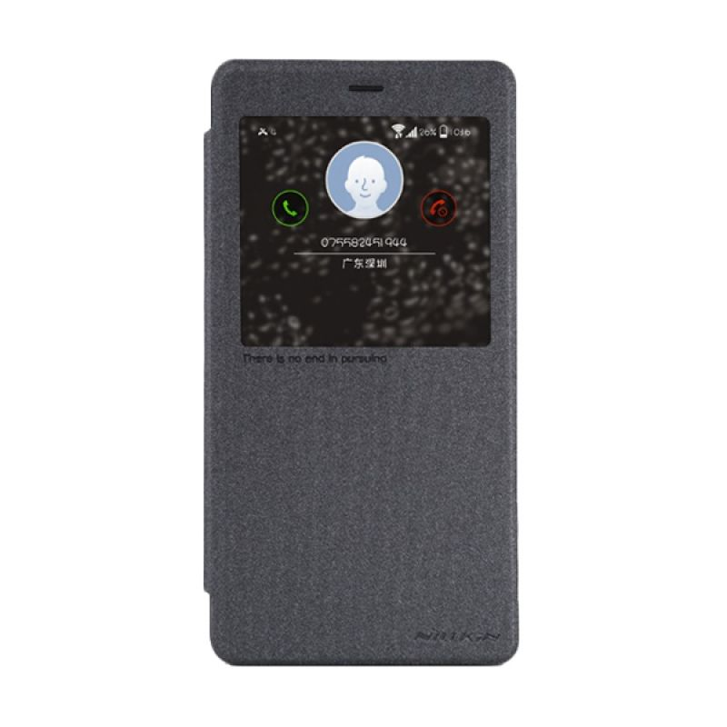 Nillkin Sparkle Leather Black Casing for Xiaomi Note or MiNote Pro