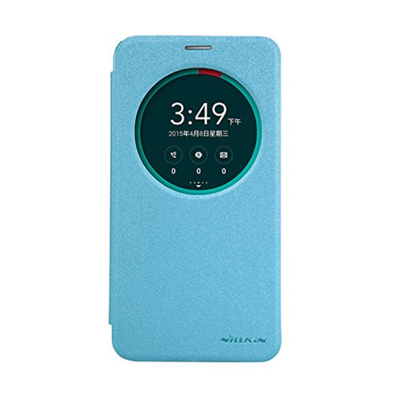 Nillkin Sparkle Leather Blue Casing for Asus Zenfone 2 ZE551ML [5.5 Inch]