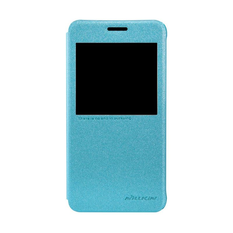 NILLKIN Sparkle Leather Blue Casing for Samsung Galaxy Alpha