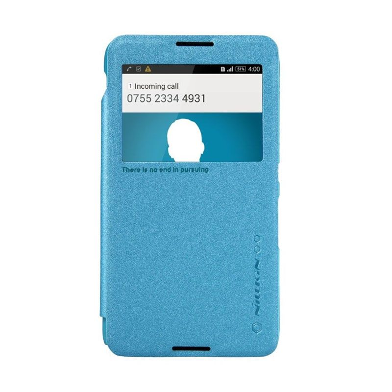 Nillkin Sparkle Leather Blue Casing for Sony Xperia E4