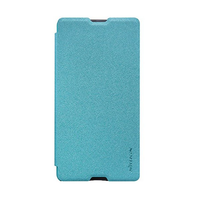 Nillkin Sparkle Leather Blue Casing for Sony Xperia M5