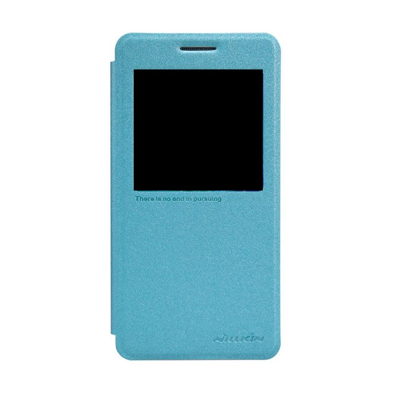 Nillkin Sparkle Leather Blue Casing Samsung Galaxy A5 A5000