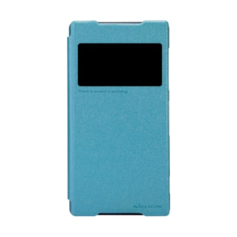 Nillkin Sparkle Leather Blue Casing for Sony Xperia Z2