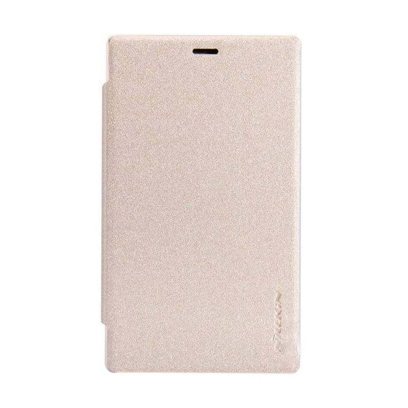NILLKIN Sparkle Gold Leather Casing for Nokia X2