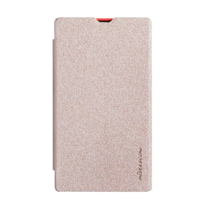 NILLKIN Sparkle Gold Leather Casing for Nokia X