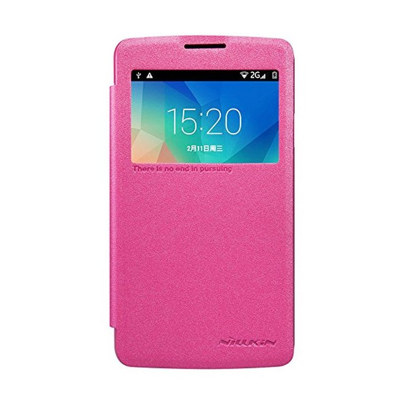 NILLKIN Sparkle Leather Pink Casing for LG L60 X145