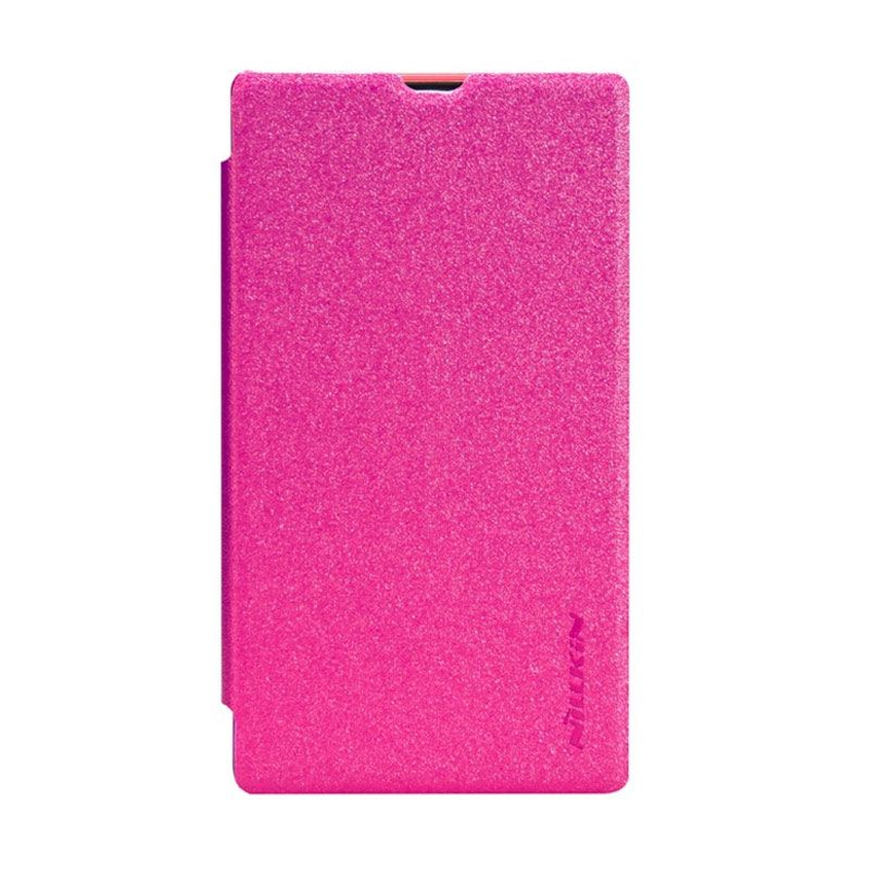 NILLKIN Sparkle Pink Leather Casing for Nokia X