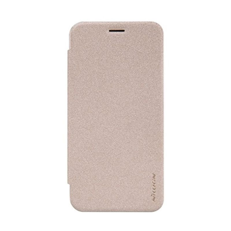 Nillkin Sparkle Leather Gold Casing for Asus Zenfone 2 ZE500CL