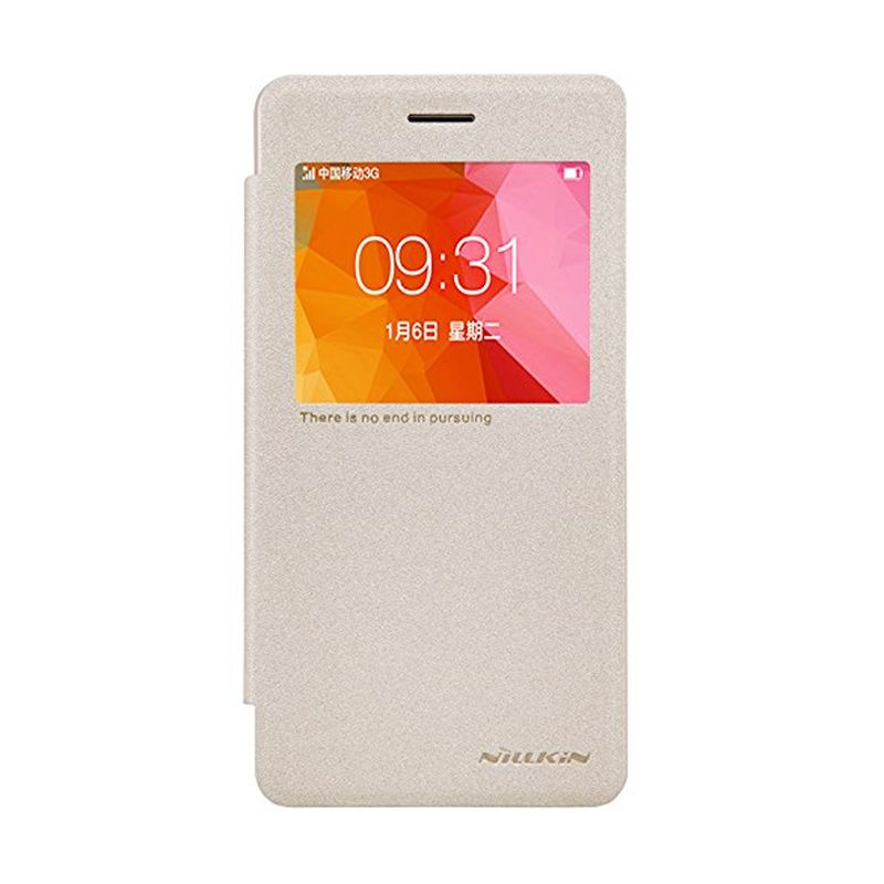 Nillkin Sparkle Leather Gold Casing for Oppo R7