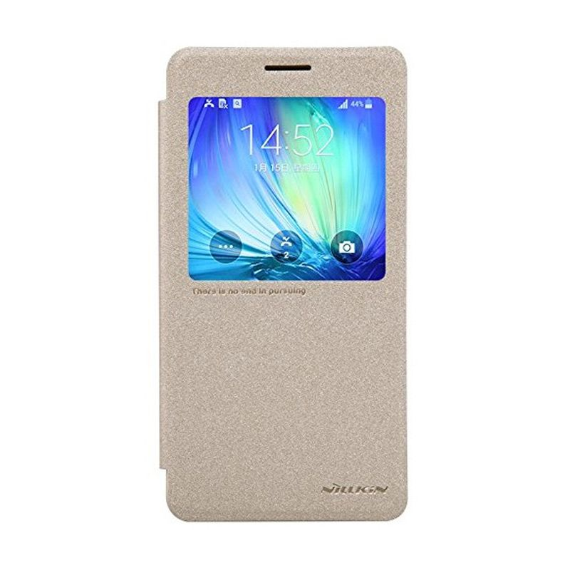 NILLKIN Sparkle Leather Gold Casing for Samsung Galaxy A7