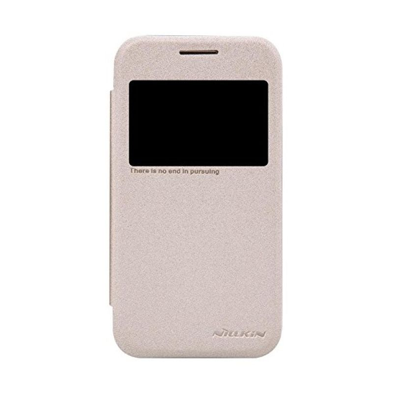 NILLKIN Sparkle Leather Gold Casing for Samsung Galaxy Core Prime G360