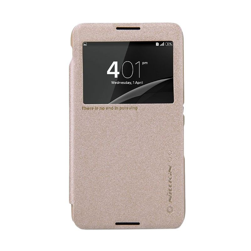 Nillkin Sparkle Leather Gold Casing for Sony Xperia E4