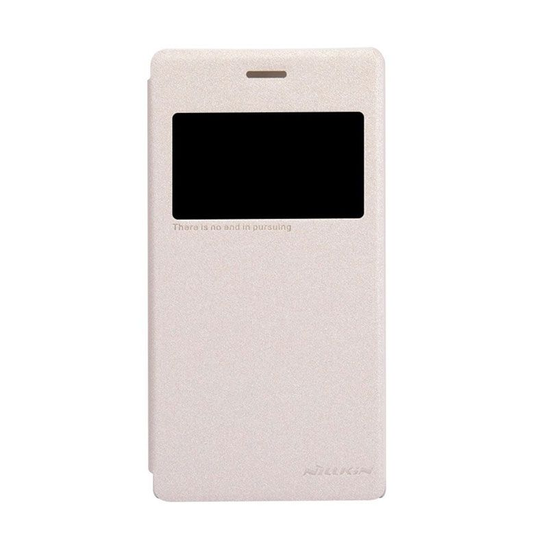 Nillkin Sparkle Leather Gold Casing for Sony Xperia M2 S50h