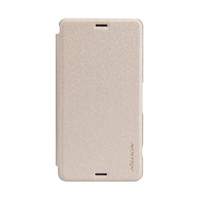 Nillkin Sparkle Leather Gold Casing for Sony Xperia Z3 Compact D5803/D5833